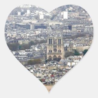Notre Dame Paris France Heart Sticker