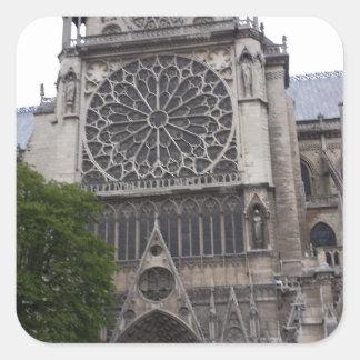 Notre Dame, Paris, France Square Sticker
