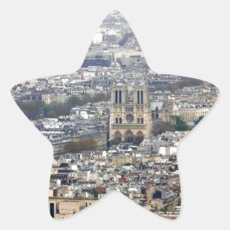 Notre Dame París Francia Colcomanias Forma De Estrella Personalizadas