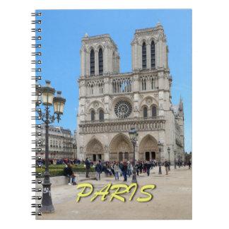 Notre Dame PARÍS Libro De Apuntes Con Espiral
