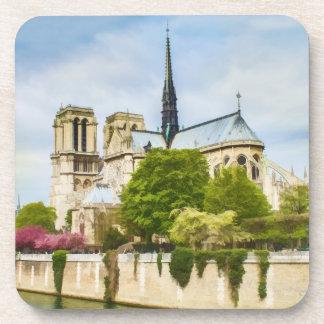 Notre Dame, París, práctico de costa del corcho Posavasos De Bebidas