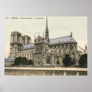 Notre Dame, Paris Vintage Poster