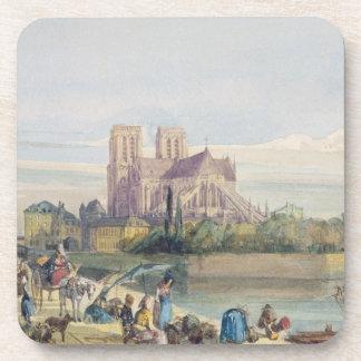 Notre Dame, París (w/c en el papel) Posavasos De Bebidas