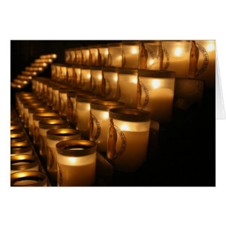 Notre Dame Prayer Candles Greeting Cards