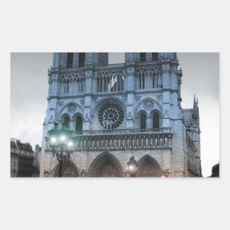 Notre Dame Rectangular Sticker