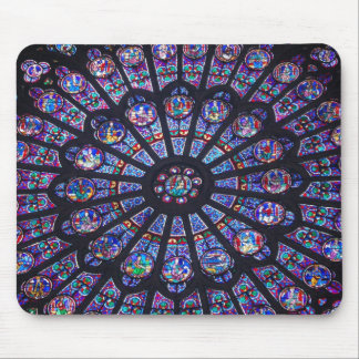Notre Dame Rose Window Mouse Pad