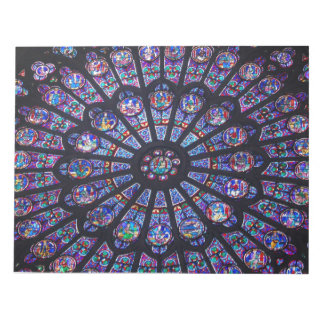 Notre Dame Rose Window Notepad