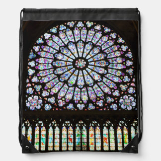 Notre Dame Rose Window - Paris, France Drawstring Bag