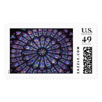 Notre Dame Rose Window Postage
