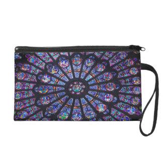 Notre Dame Rose Window Small Bag/Clutch Wristlet