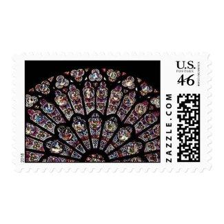 Notre Dame Rose Window Stamp stamp