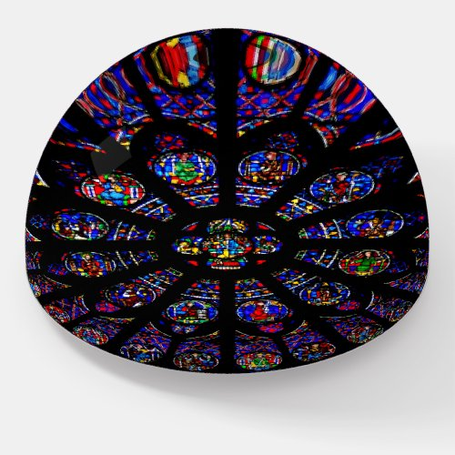 Notre Dame South Rose Window Paperweight