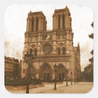 Notre Dame Square Sticker