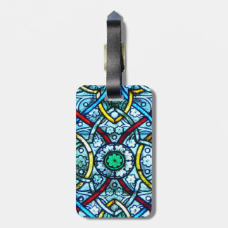 Notre Dame Stained Glass Bag Tags