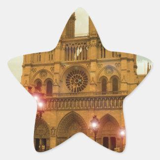 Notre Dame Star Sticker
