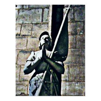 Notre Dame Statue CB Postcard