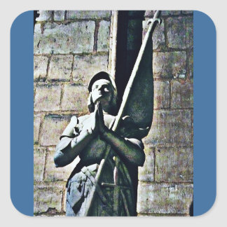 Notre Dame Statue CB Square Sticker