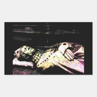 Notre Dame Statue Grunge Rectangular Sticker