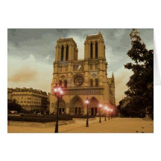 Notre Dame Tarjeta De Felicitación