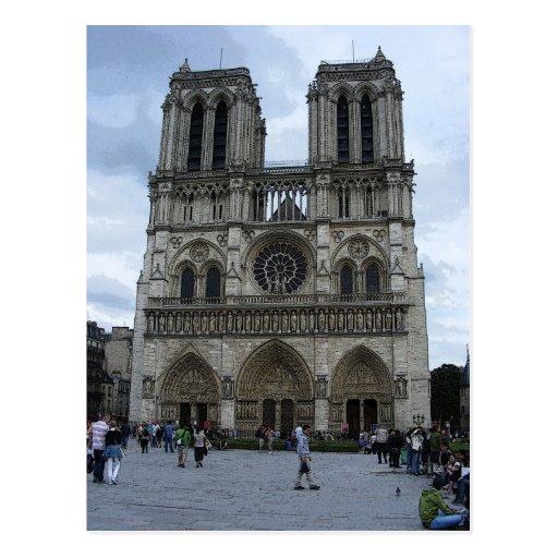Notre Dame Tarjeta Postal
