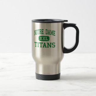 Notre Dame - titanes - alta - orilla California Taza De Viaje