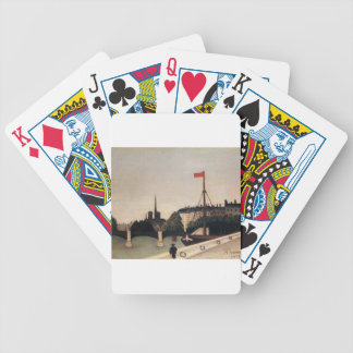 Notre Dame View of the Ile Saint Louis Bicycle Playing Cards
