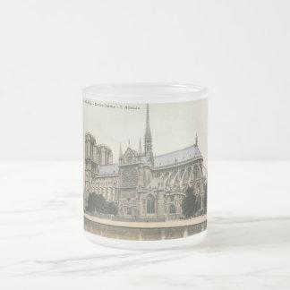 Notre Dame, vintage de París Taza De Cristal
