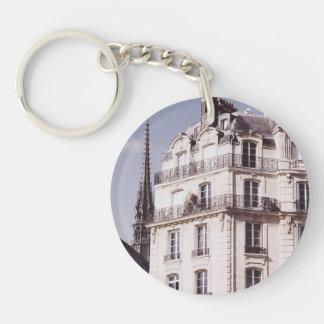 Notre Dame y arquitectura parisiense Llavero Redondo Acrílico A Una Cara