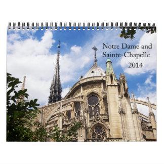 Notre Dame y calendario 2014 de Sainte-Chapelle