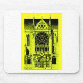 notre dame yellow mouse pad