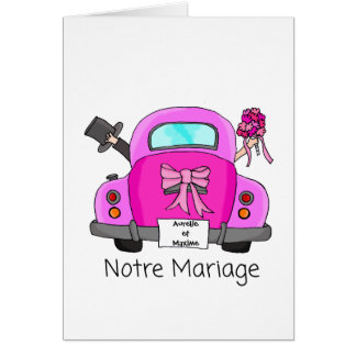 Notre Mariage - french wedding invitation