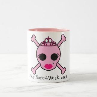 NotSafe4Werk.com Pink Skull Mug