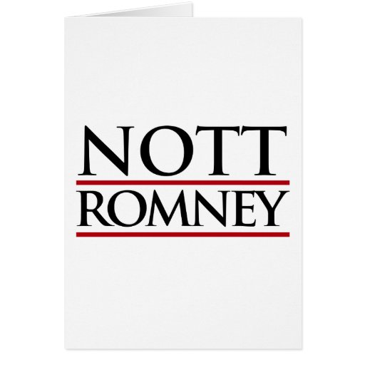 NOTT ROMNEY -.png Greeting Card