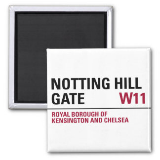 Notting Hill Gate Sign 2 Inch Square Magnet