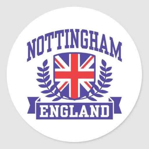 Nottingham England Classic Round Sticker