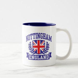 Nottingham England Two-Tone Coffee Mug