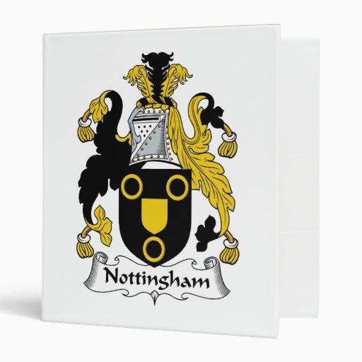 Nottingham Family Crest Binder
