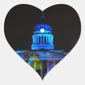 Nottingham Heart Sticker