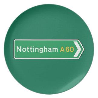 Nottingham señal de tráfico BRITÁNICA