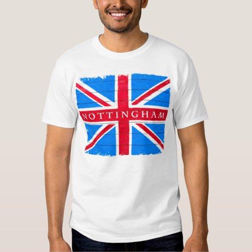 Nottingham - United Kingdom Union Jack Flag T Shirt