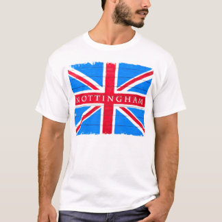 Nottingham - United Kingdom Union Jack Flag T-Shirt