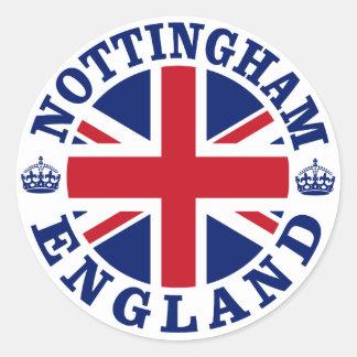 Nottingham Vintage UK Design Classic Round Sticker