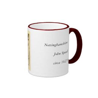 Nottinghamshire County Map, England Ringer Mug