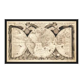 Noua Orbis Terrarum World Map by Eckebrecht (1630) Canvas Print