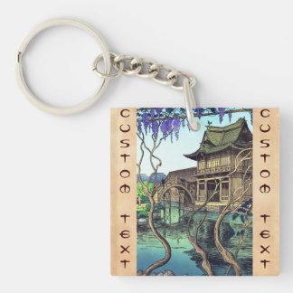 Nouet Noel Kameido shin hanga japanese scenery Keychain