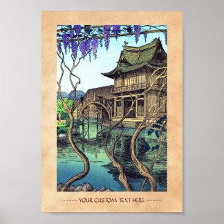 Nouet Noel Kameido shin hanga japanese scenery Print