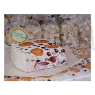 Nougat at a market stall in the Provence Greeting Cards