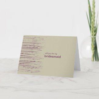 Nougat Be My Bridesmaid Invitation Card card