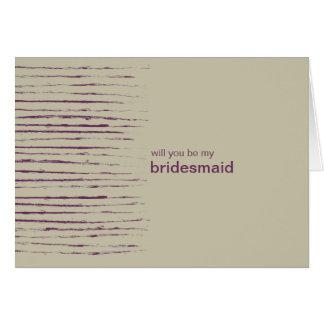 Nougat Be My Bridesmaid Invitation Card