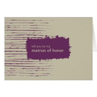 Nougat Be My Matron of Honor Invitation Card